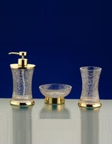 . SPLIT Nicol настольные аксессуары для ванной золото, кракелюрное стекло