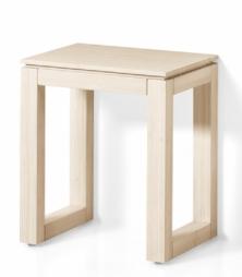 Мебель и Аксессуары для ванной из натурального дерева, Раттана и Бамбука. Табурет для ванной Canaver 2 деревянный бамбук выбеленный