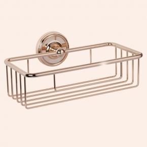 Полки для душа Сетки Полки для ванной стеклянные Полки для полотенец. Полочка сетка TW Bristol TWBR527oro
