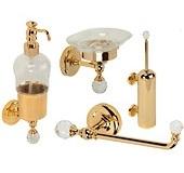 Аксессуары для ванной с кристаллами Swarovski. Amerida аксессуары для ванной с кристаллами Swarovski