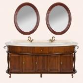 Мебель для ванной комнаты. Комплект мебель Tiffany World Antica firenze 7025D (2 раковины), цвет noce (орех).