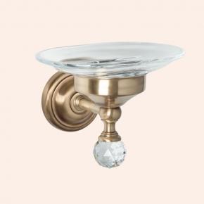 Аксессуары для ванной с кристаллами Swarovski. Мыльница подвесная стеклянная TW Crystal TWCR106br/sw
