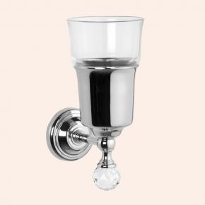Аксессуары для ванной с кристаллами Swarovski. Подвесной стакан стеклянный TW Crystal TWCR109cr/sw