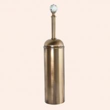 Аксессуары для ванной с кристаллами Swarovski. Ёрш напольный в металлической колбе TW Crystal TWCR020 Бронза кристалл Swarovski