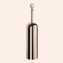 Аксессуары для ванной с кристаллами Swarovski. Ёрш напольный в металлической колбе TW Crystal TWCR020 Золото кристалл Swarovski