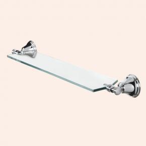 Полки для душа Сетки Полки для ванной стеклянные Полки для полотенец. Полка стеклянная 71 см TW Harmony TWHA018cr