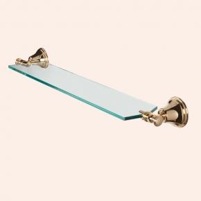 Полки для душа Сетки Полки для ванной стеклянные Полки для полотенец. Полка стеклянная 71 см TW Harmony TWHA018oro