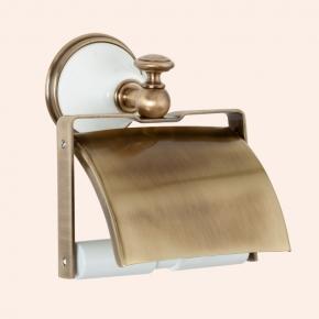 Аксессуары для ванной настенные. Держатель для туалетной бумаги с крышкой TW Harmony TWHA219bi/br