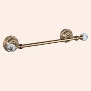 Аксессуары для ванной с кристаллами Swarovski. Полотенцедержатель 35,5 см TW Crystal TWCR014br/sw