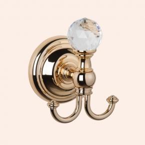 Аксессуары для ванной с кристаллами Swarovski. Крючок для полотенца TW Crystal TWCR016oro/sw