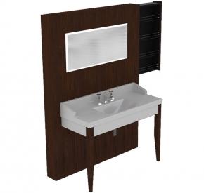 Мебель для ванной комнаты. Панель Kerasan Bentley 140