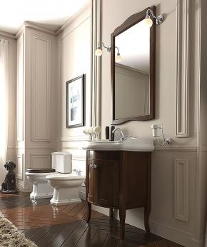 Мебель для ванной комнаты. База Kerasan Retro 7349 с раковиной и зеркалом
