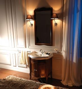 . База Kerasan Retro 7351 с раковиной, зеркалом и светильниками