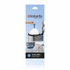 Мусорные баки и вёдра для кухни. Пакеты для мусора Brabantia (в рулонах) 20л 20шт. (размер E)