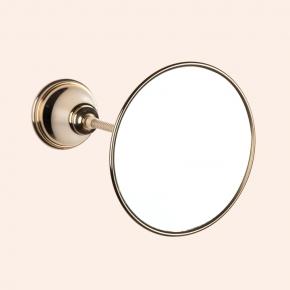 Зеркала косметические с подсветкой увеличением настенные настольные Зеркала с присосками. Зеркало косметическое круглое TW Harmony TWHA025oro