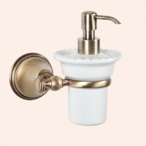 Аксессуары для ванной настенные. Подвесной дозатор для жидкого мыла TW Harmony TWHA108br