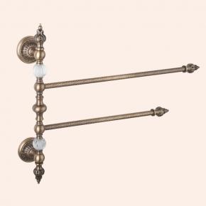 Аксессуары для ванной настенные. Полотенцедержатель двойной 45 см TW Murano TWMUBA105/OVTObr