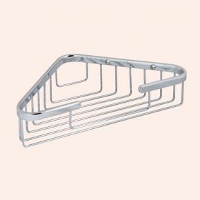 Полки для душа Сетки Полки для ванной стеклянные Полки для полотенец. Подвесная полочка сетка угловая TW Harmony TWHO534cr
