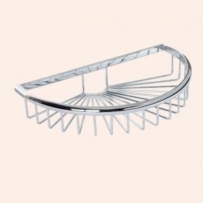 Полки для душа Сетки Полки для ванной стеклянные Полки для полотенец. Подвесная полочка сетка полукруглая TW Harmony TWHO535cr