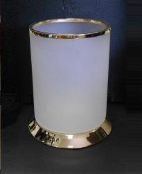 Вёдра с педалью Дровницы Вёдра. Ведро для мусора стеклянное Glass золотой декор