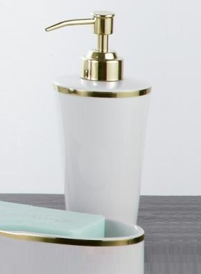. Sofia Nicol аксессуары для ванной фарфоровый настольный золотой Дозатор