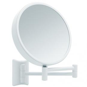. Lola Weis зеркало косметическое белое настенное двухстороннее с увеличением 3х7