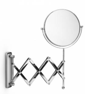 . Зеркало двойная гармошка косметическое настенное с увеличением 1х1 и 1х3 Lineabeta двухстороннее