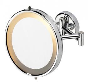 Зеркала косметические с подсветкой увеличением настенные настольные Зеркала с присосками. Verena Nicol Косметическое зеркало с подсветкой и увеличением 1х5 настенное
