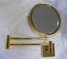Зеркала косметические с подсветкой увеличением настенные настольные Зеркала с присосками. Косметическое зеркало настенное с увеличением Spiegel 282 GOLD золотое двухстороннее