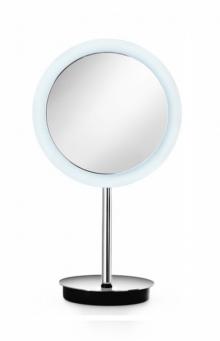 . Зеркало косметическое с увеличением 1х3 настольное с LED подсветкой Lineabeta