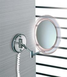 Зеркала косметические с подсветкой увеличением настенные настольные Зеркала с присосками. Marie Nicol косметическое зеркало с подсветкой LED настенное с 5-ти кратным увеличением