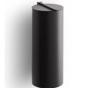 . BIN 4 настенное ведро для мусора с крышкой чёрное матовое