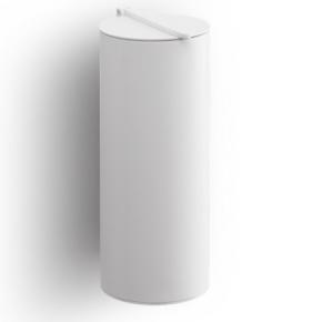 . BIN 4 настенное ведро для мусора с крышкой белое матовое