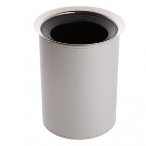 Посуда Столовые приборы Декор стола Deluxe. Кулер для бутылки кожаный Светло-серый