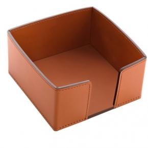 Посуда Столовые приборы Декор стола Deluxe. Viola кожаная подставка для салфеток Коньяк