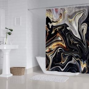 Шторки для душа и ванны текстильные. Nobiliti Carnation Home Fashions Marble Stratum шторка для ванны и душа