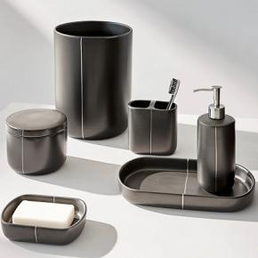 . Nero керамические аксессуары для ванной настольные чёрные