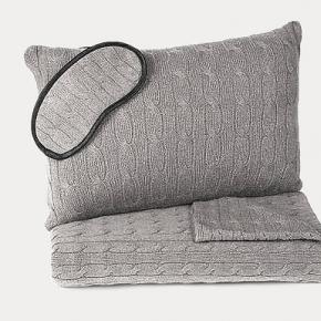 . Ralph Lauren Home Cable Modern Charcoal дорожный набор чехол-подушка маска плед кашемировый