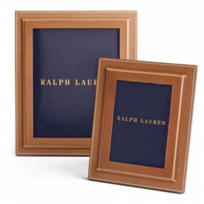 Аксессуары для кабинета Deluxe. Ralph Lauren Home Brennan кожаная фоторамка коричневая Saddle