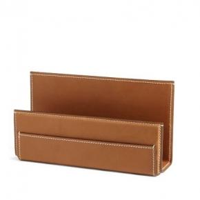 Аксессуары для кабинета Deluxe. Ralph Lauren Home BRENNAN Saddle подставка для писем кожаная