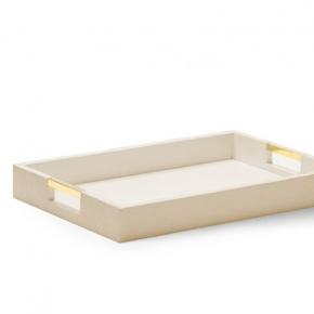 Аксессуары и Мебель для дома. Classic Shagreen Wheat поднос кожаный с ручками прямоугольный