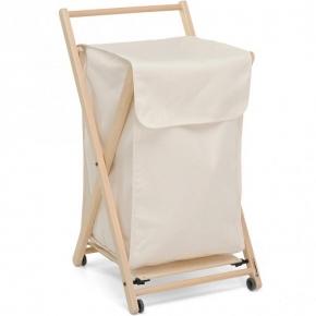 . Деревянная корзина для белья складная Foppapedretti Angel бук с полотенцедержателем
