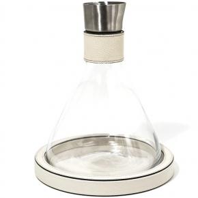 Посуда Столовые приборы Декор стола Deluxe. Pinetti Decanter декантер с кожаной подставкой