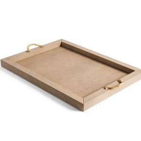 Аксессуары и Мебель для дома. Pinetti Thalia TRAY кожаный поднос с ручками
