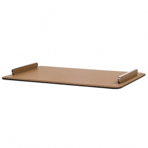 Аксессуары и Мебель для дома. Pinetti ESTE RECTANGULAR поднос кожаный металл декор