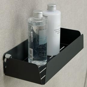 Полки для душа Сетки Полки для ванной стеклянные Полки для полотенец. StilHaus полка чёрная матовая 25 см