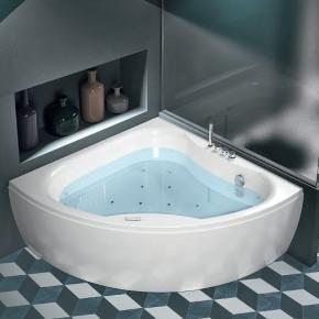 Ванны. Hafro Diva ванна угловая WHIRLPOOL AIRPOOL 140x140х59 см
