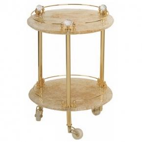 Этажерки для ванной. Этажерка круглая стеклянная столик Cristalia золото Swarovski