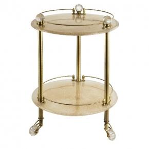 Этажерки для ванной. Этажерка круглая стеклянная столик Cristalia бронза Swarovski