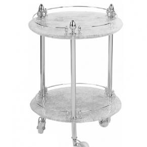 Этажерки для ванной. Этажерка круглая стеклянная столик Elisabetta хром